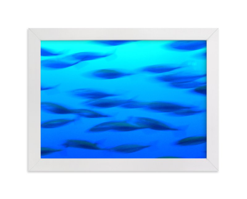 """""""Swimming 1"""" - Art Print by Jan Kessel in beautiful frame options and a variety of sizes."""