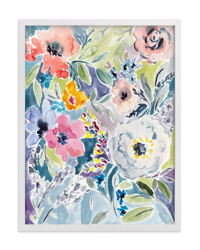 """Watercolor Flowers 3"" - Art Print by Susanna Nousiainen in beautiful frame options and a variety of sizes."