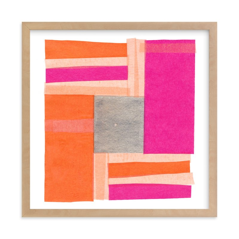 """Modern Quilt Block"" - Art Print by Kelly Nasuta in beautiful frame options and a variety of sizes."