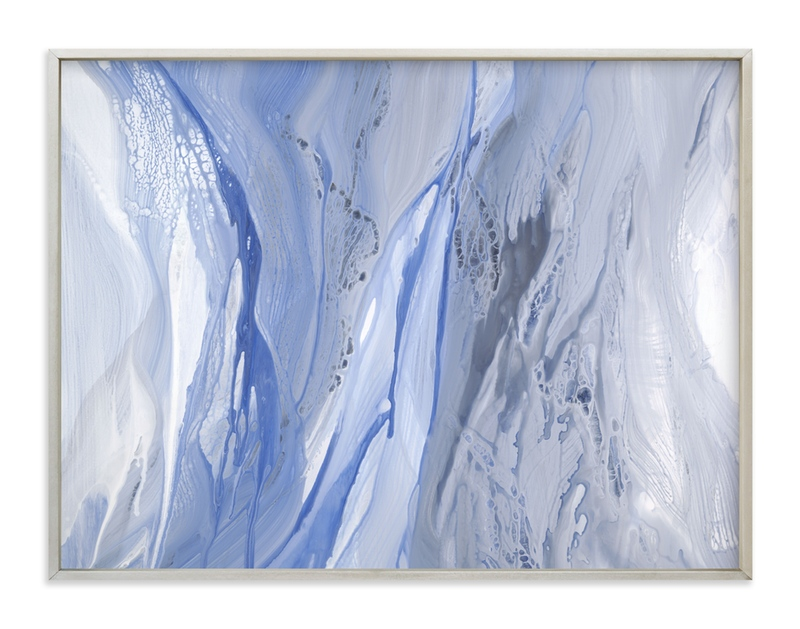 """""""drenched in blue grey"""" - Art Print by Teodora Guererra in beautiful frame options and a variety of sizes."""