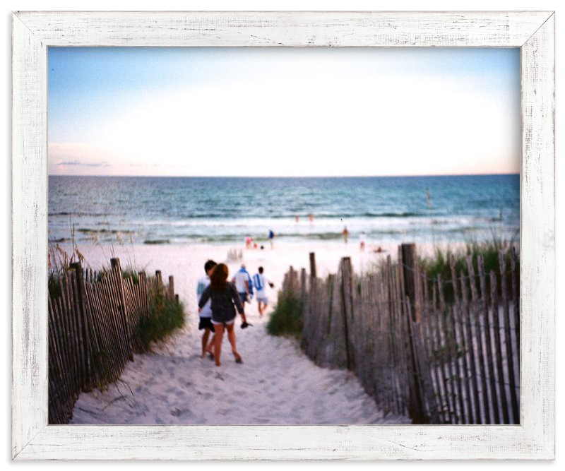"""Beach Path"" - Art Print by Jill Fisher in beautiful frame options and a variety of sizes."