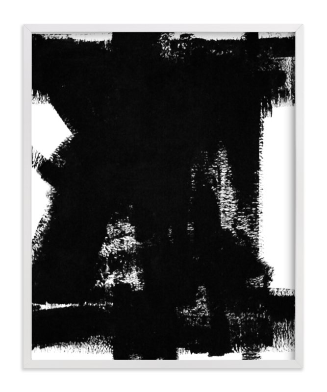 """""""Back in Black"""" - Art Print by Ilana Greenberg in beautiful frame options and a variety of sizes."""