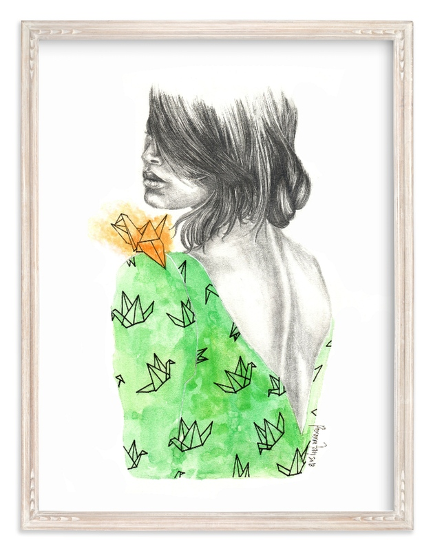 """""""Delicately"""" - Art Print by Roxanne Fay in beautiful frame options and a variety of sizes."""