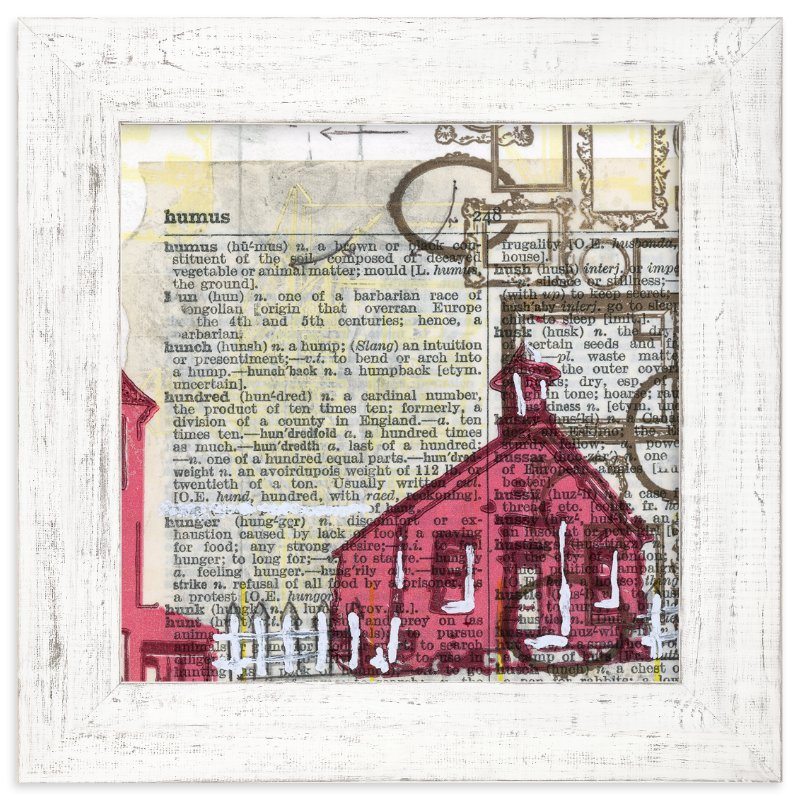 """Schoolhouse Rock No.2"" - Art Print by Kelly Maron Horvath in beautiful frame options and a variety of sizes."