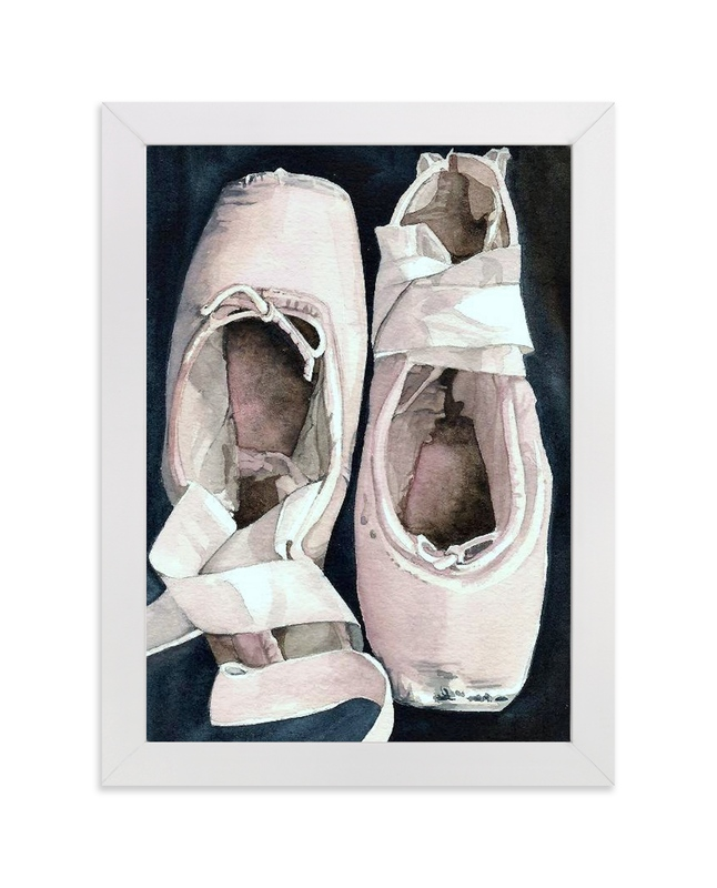 """On Pointe by Stephanie Toral"" - Art Print by Stephanie Toral in beautiful frame options and a variety of sizes."