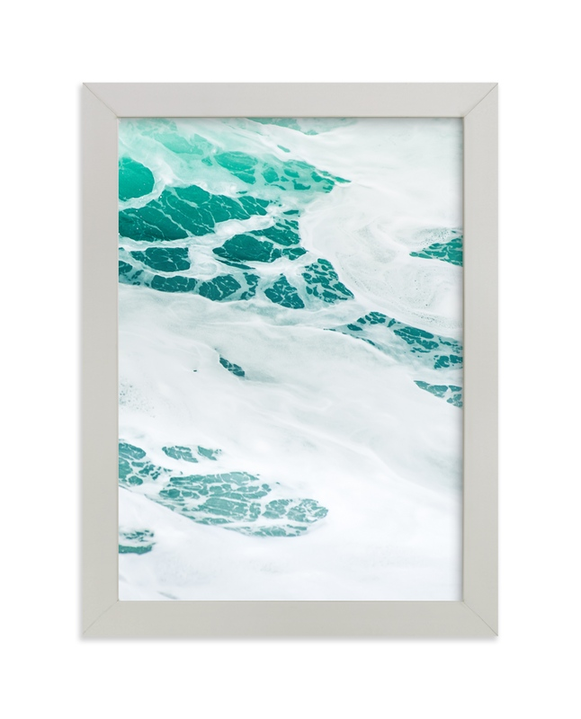 """""""Cerulean Swell II"""" - Art Print by Kamala Nahas in beautiful frame options and a variety of sizes."""