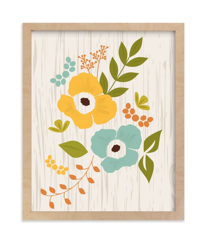 """""""Woodland Wallflowers"""" - Art Print by Bethany Anderson in beautiful frame options and a variety of sizes."""