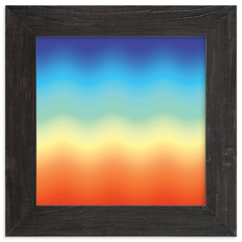 """Ombré Sunset"" - Art Print by JaxRobyn in beautiful frame options and a variety of sizes."