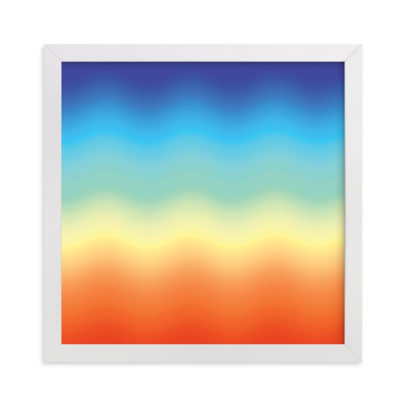 """""""Ombré Sunset"""" - Art Print by JaxRobyn in beautiful frame options and a variety of sizes."""
