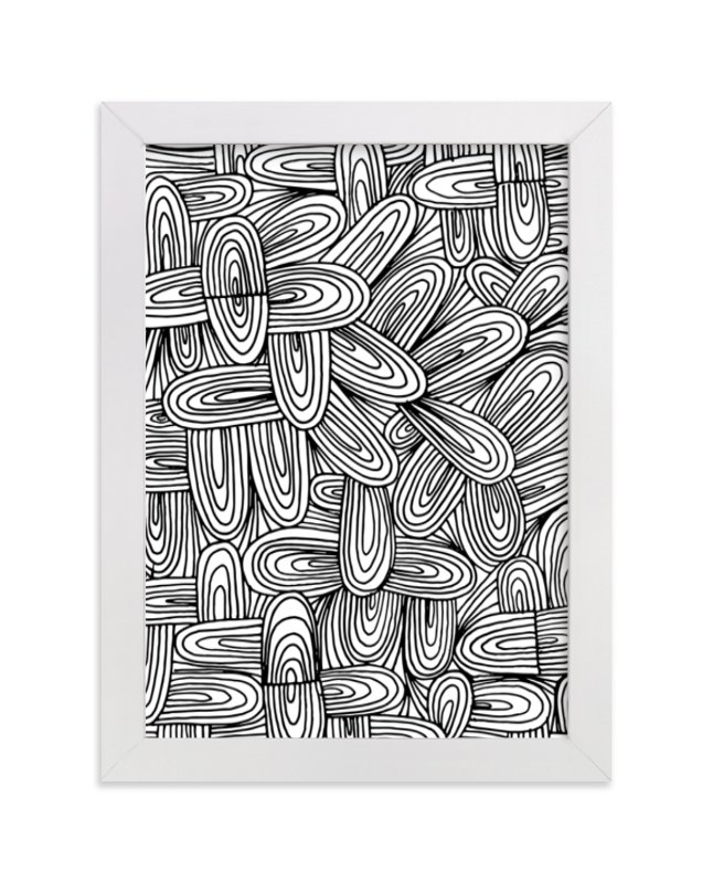 """""""doodle patterned"""" - Art Print by Ramoncita Campo in beautiful frame options and a variety of sizes."""