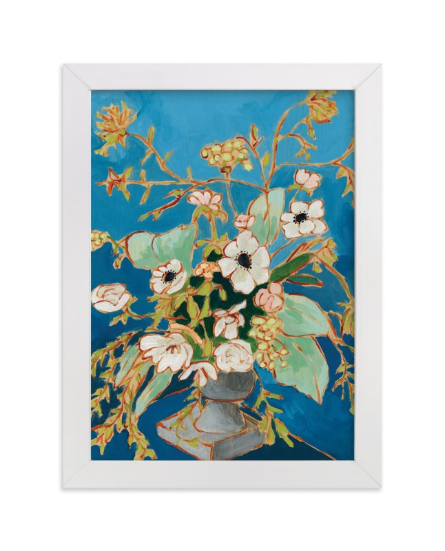 """""""From a Table in Verona"""" - Art Print by Jennifer Allevato in beautiful frame options and a variety of sizes."""