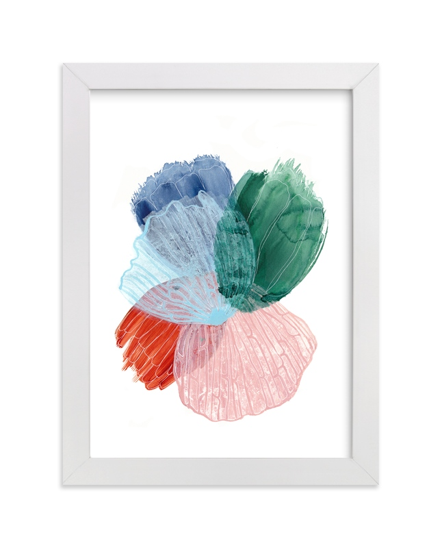 """Skeleton Petals 4"" - Art Print by Maggie Burns in beautiful frame options and a variety of sizes."