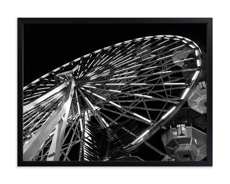 """""""big WHEEL"""" - Art Print by Gail Schechter in beautiful frame options and a variety of sizes."""
