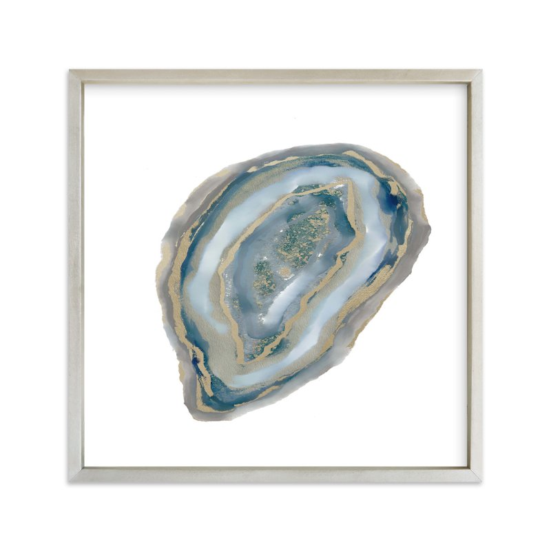 """""""Aqua Agate"""" - Art Print by Amy Lighthall in beautiful frame options and a variety of sizes."""