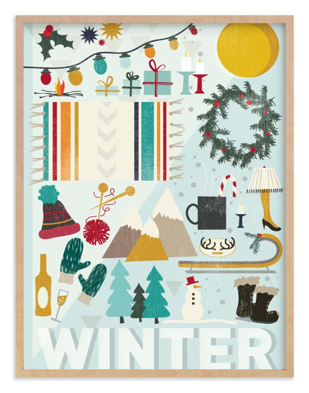 """""""4 Seasons : Winter"""" - Art Print by Kate Capone in beautiful frame options and a variety of sizes."""