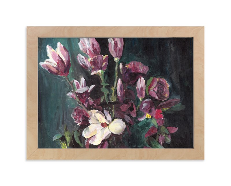 """""""Magnolia"""" - Art Print by XL in beautiful frame options and a variety of sizes."""