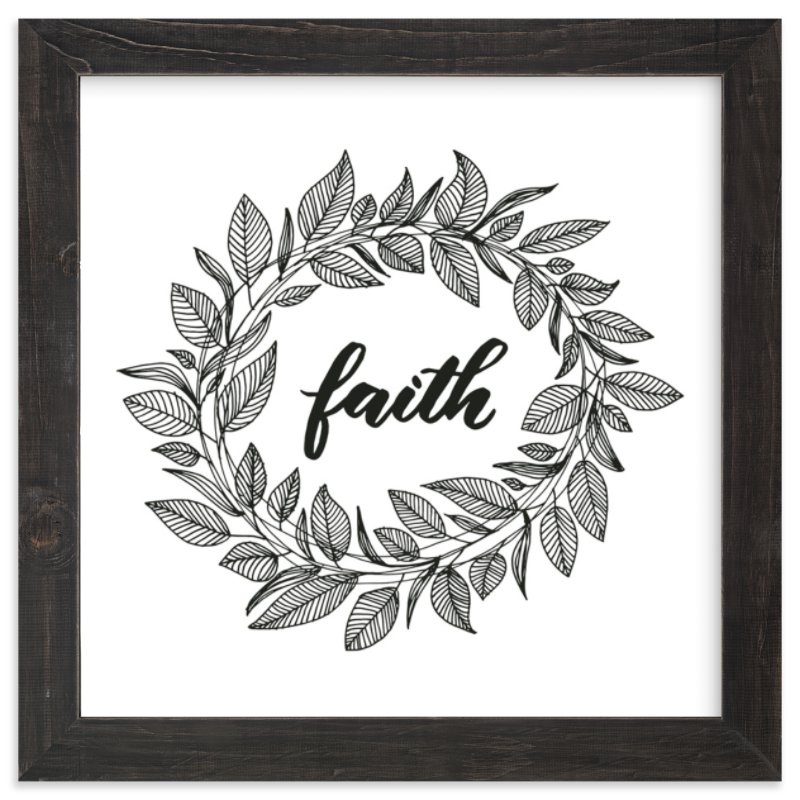 """""""Faith Wreath by LY"""" - Art Print by Lyna Ti in beautiful frame options and a variety of sizes."""
