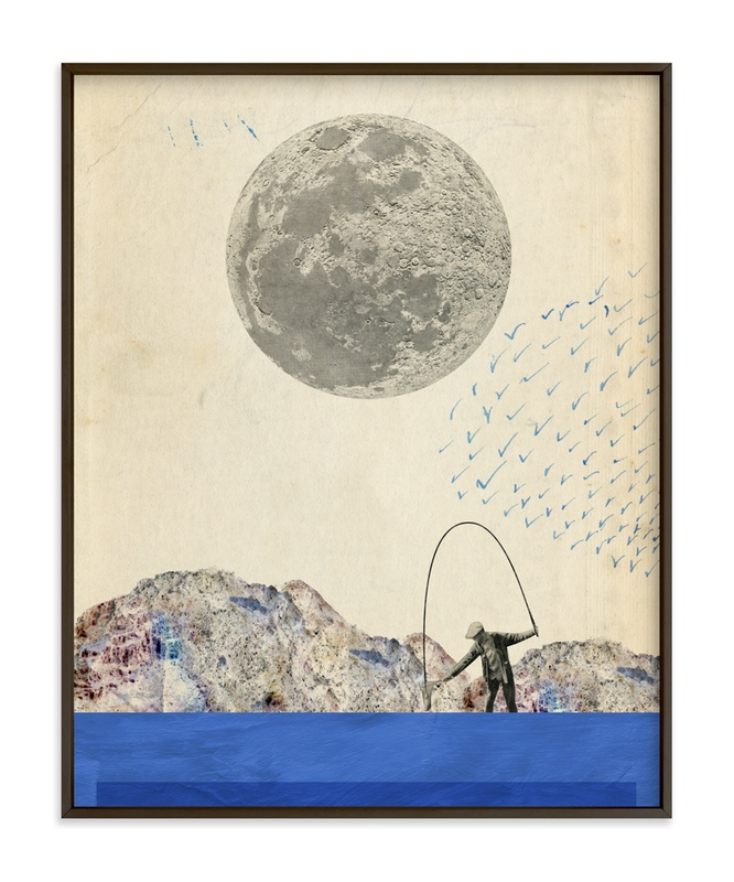 """""""Fishing"""" - Art Print by Field and Sky in beautiful frame options and a variety of sizes."""