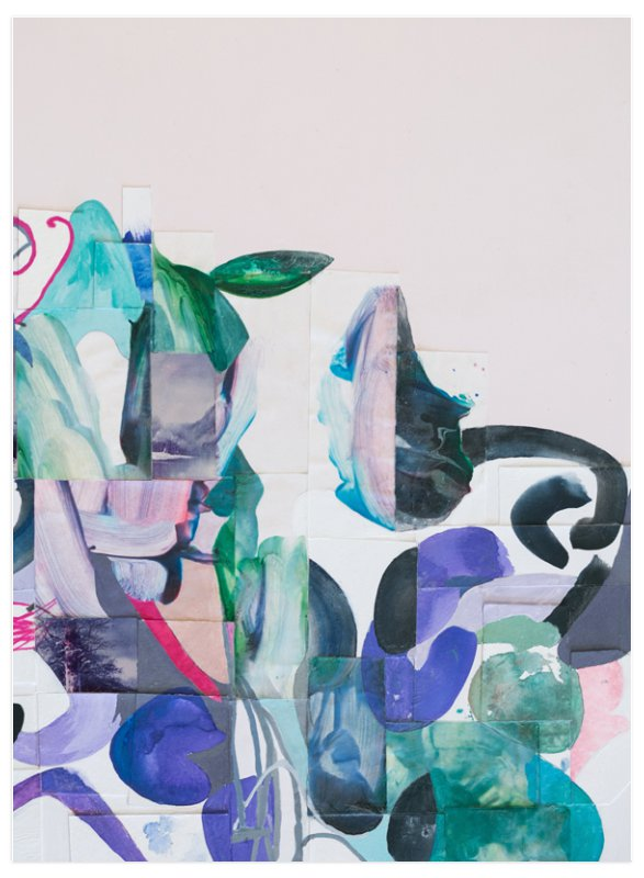 This is a green art by Erin McCluskey Wheeler called Greens and Pinks.