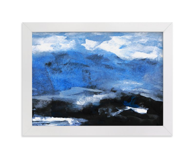 """""""Stormy Sea Abstract Painting"""" - Art Print by Melanie Biehle in beautiful frame options and a variety of sizes."""