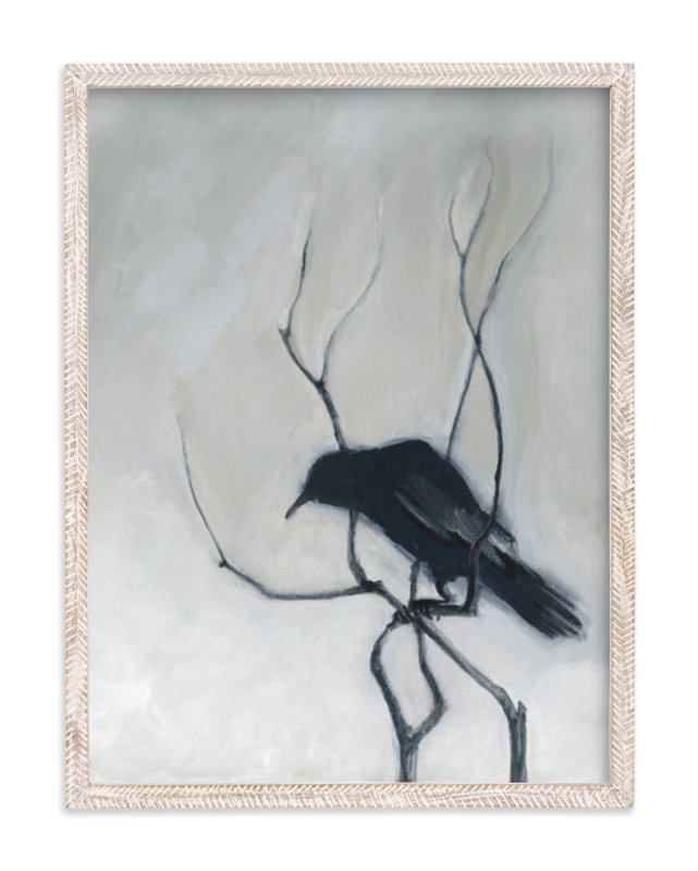 """Priceville Crow"" - Art Print by Stacey Hill in beautiful frame options and a variety of sizes."