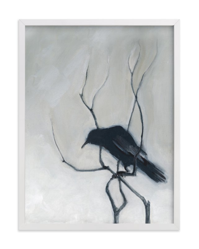 """""""Priceville Crow"""" - Art Print by Stacey Hill in beautiful frame options and a variety of sizes."""