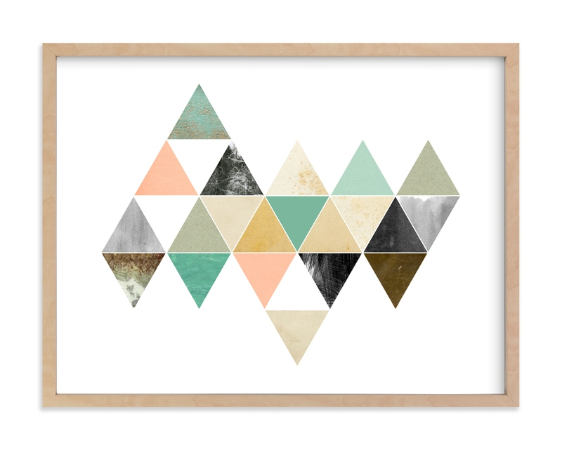 """Ocean Geometric"" - Art Print by Field and Sky in beautiful frame options and a variety of sizes."