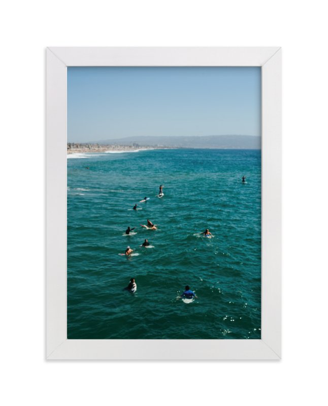 """""""Beach III"""" - Art Print by Jennifer Little in beautiful frame options and a variety of sizes."""
