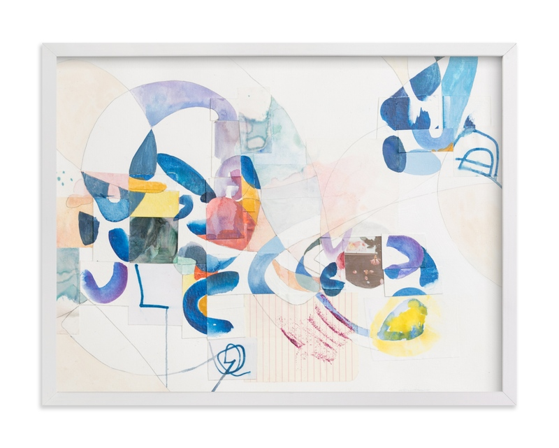 """""""Papers No. 9"""" - Art Print by Erin McCluskey Wheeler in beautiful frame options and a variety of sizes."""
