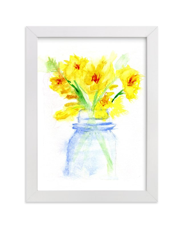 """""""Petite Bouquet"""" - Art Print by Aimee Siberon in beautiful frame options and a variety of sizes."""