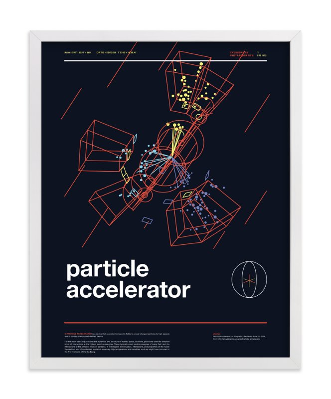 """Particle Accelerator"" - Art Print by Tyler Tea in beautiful frame options and a variety of sizes."