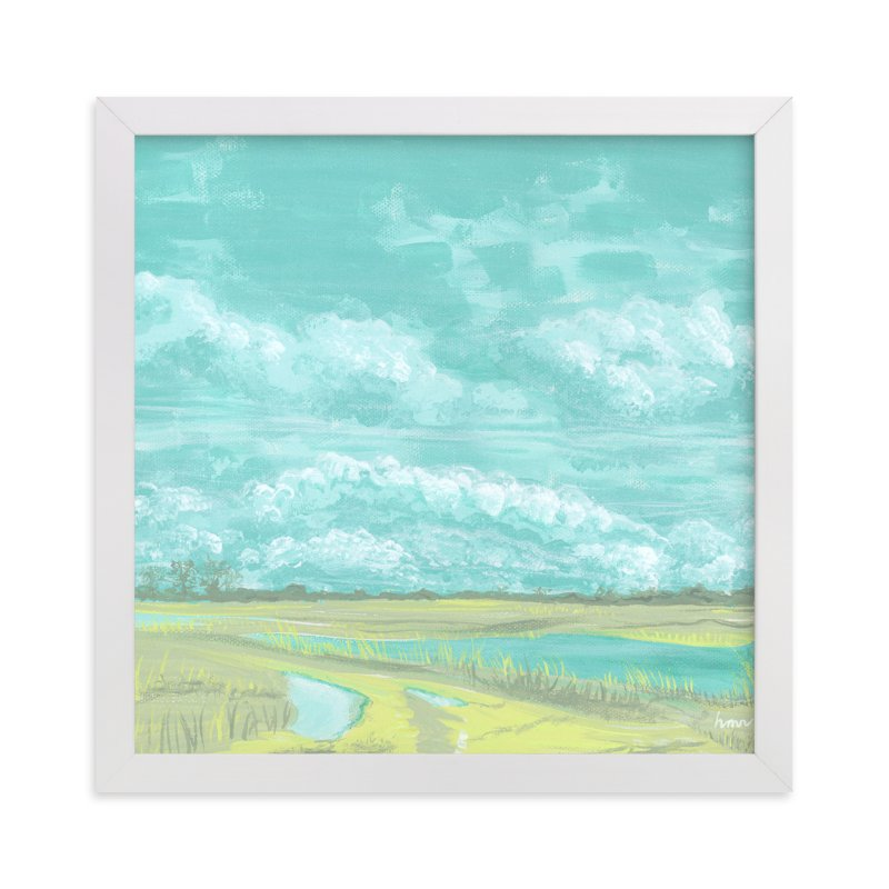 """""""End of the Road View"""" - Art Print by Heather M. Roberts in beautiful frame options and a variety of sizes."""