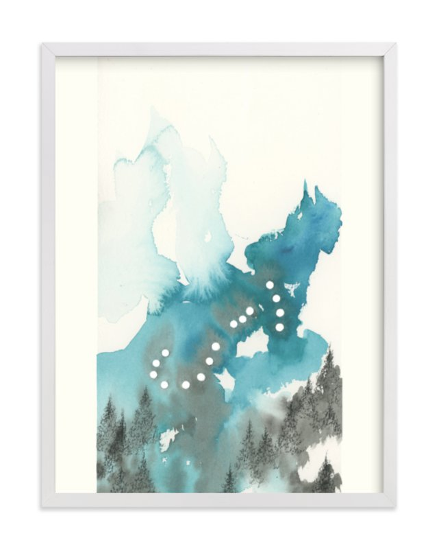 """""""Scorpio Constellation"""" - Art Print by Emily Magone in beautiful frame options and a variety of sizes."""