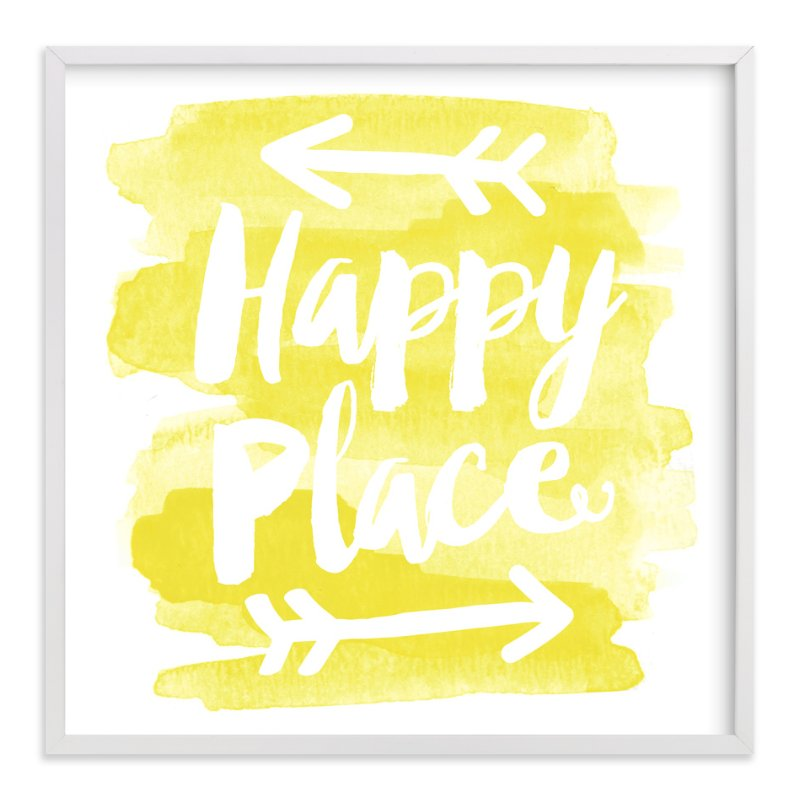 """Happy Place"" - Art Print by Jessie Steury in beautiful frame options and a variety of sizes."