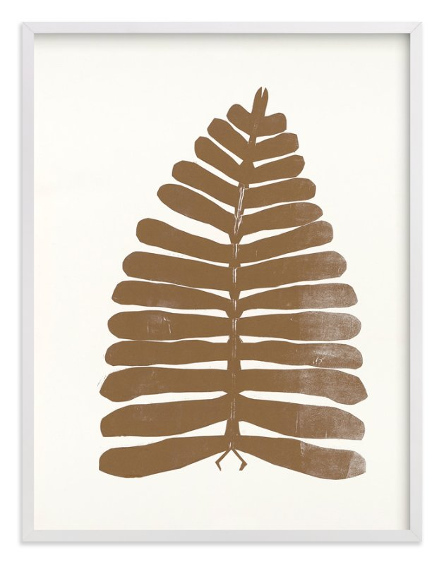 """""""Bronze Botanical Series 2"""" - Art Print by Angela Simeone in beautiful frame options and a variety of sizes."""
