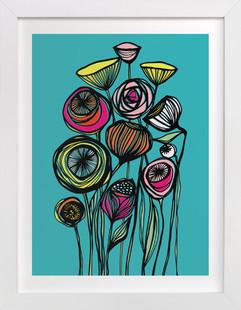 Alcanena Floral  Art Print