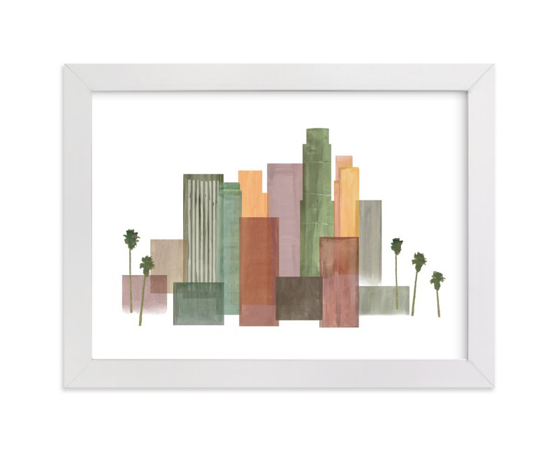 """Skyline Los Angeles"" - Art Print by Katherine Moynagh in beautiful frame options and a variety of sizes."