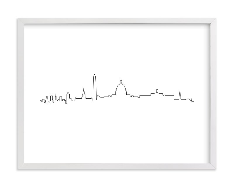 """Washington DC"" - Art Print by Erin Deegan in beautiful frame options and a variety of sizes."