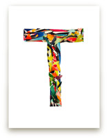 Collage letter T by Kiana Mosley