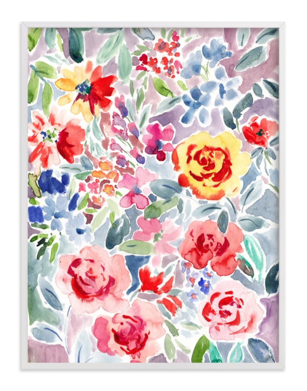 """""""Watercolor Flowers 2"""" - Art Print by Susanna Nousiainen in beautiful frame options and a variety of sizes."""