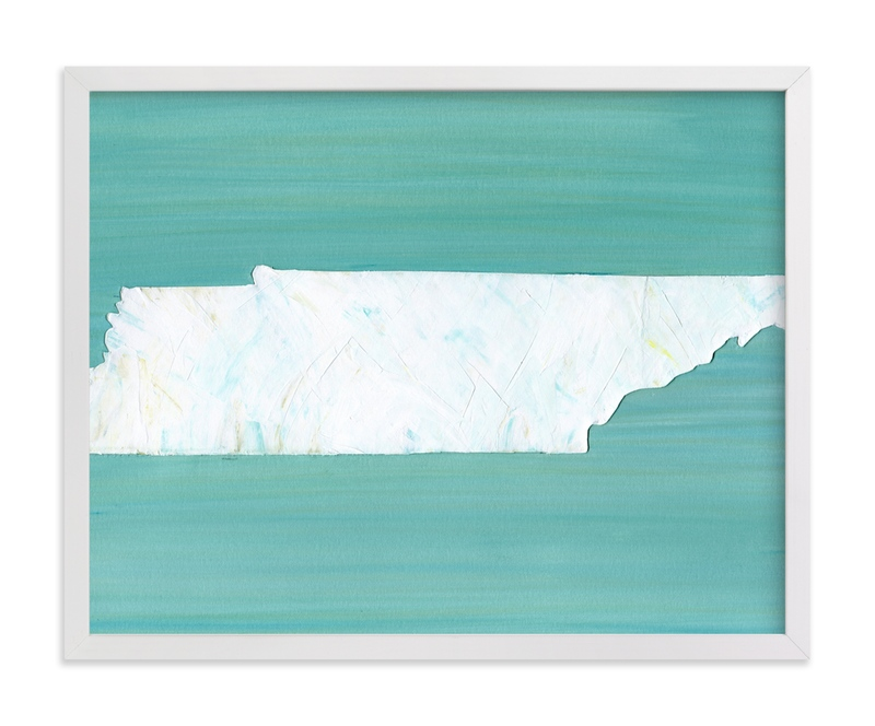 """""""Tennessee in Paint"""" - Art Print by Denise Wong in beautiful frame options and a variety of sizes."""