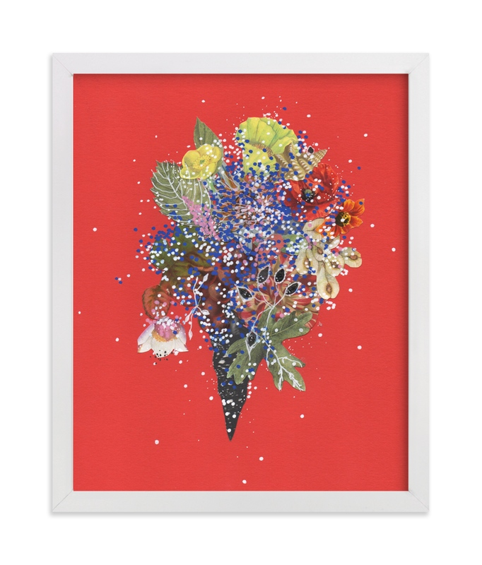 """Scarlet Coral Cluster"" - Art Print by Jenny Brown in beautiful frame options and a variety of sizes."