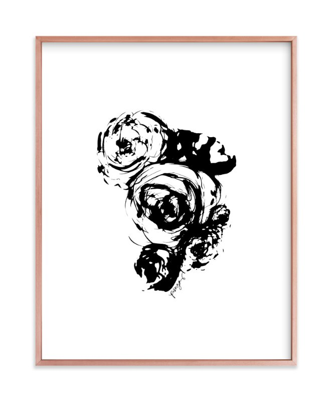 """Ink Flowers No.16"" - Art Print by Parima Studio in beautiful frame options and a variety of sizes."