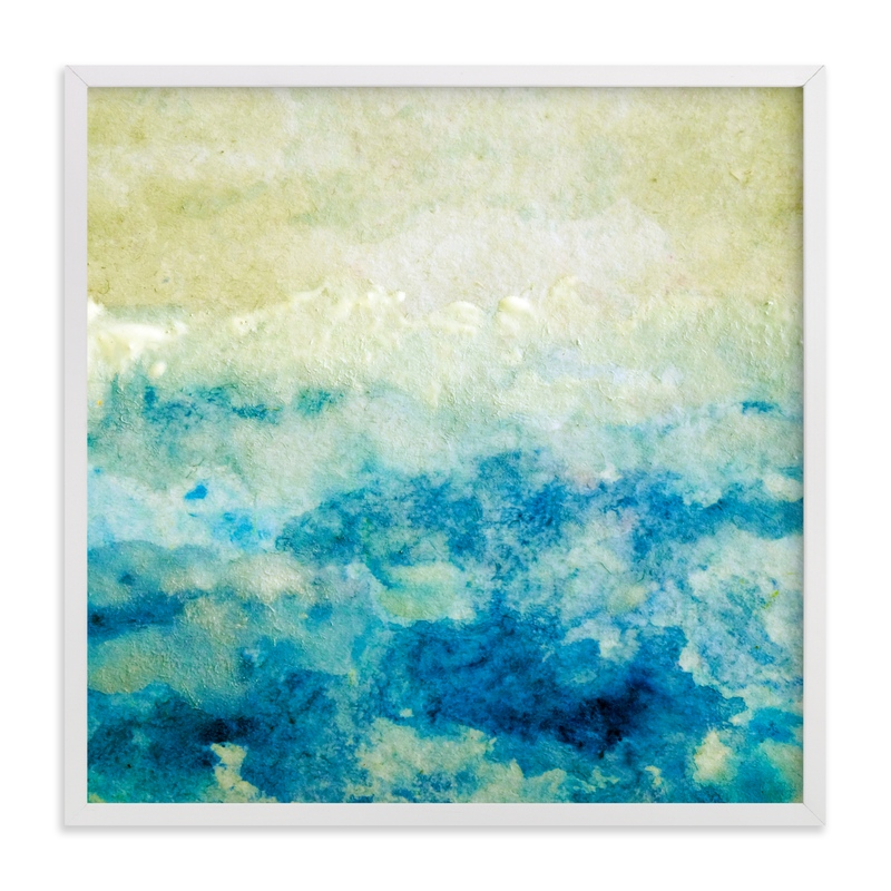 """""""Shining Sea"""" - Art Print by Courtney Crane in beautiful frame options and a variety of sizes."""