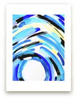 Blue Grotto Watercolor by Melanie Biehle