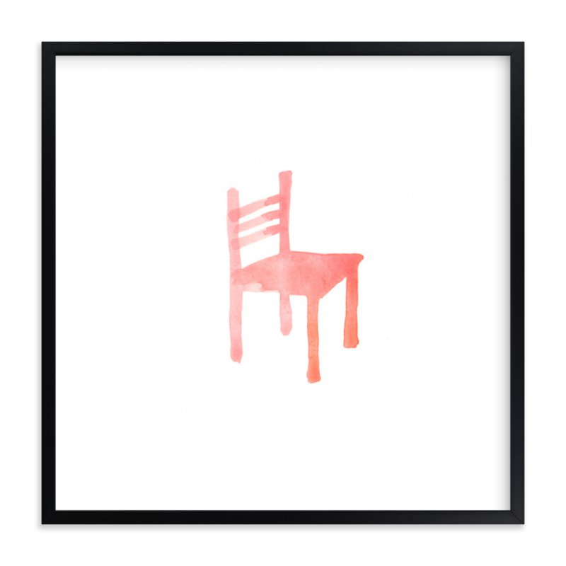 """""""Theo's Chair"""" - Art Print by Vanessa Rossi Design in beautiful frame options and a variety of sizes."""