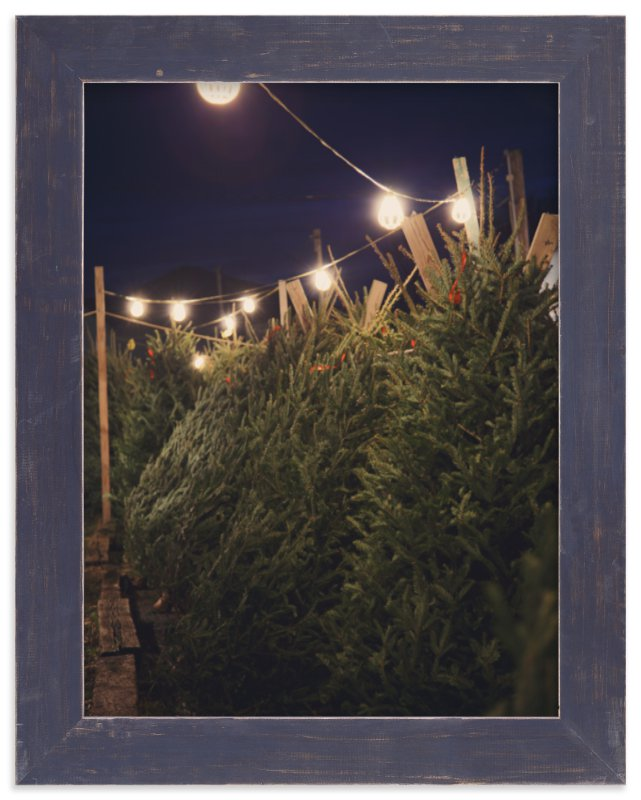 """Lit Trees"" - Art Print by Erin Niehenke in beautiful frame options and a variety of sizes."