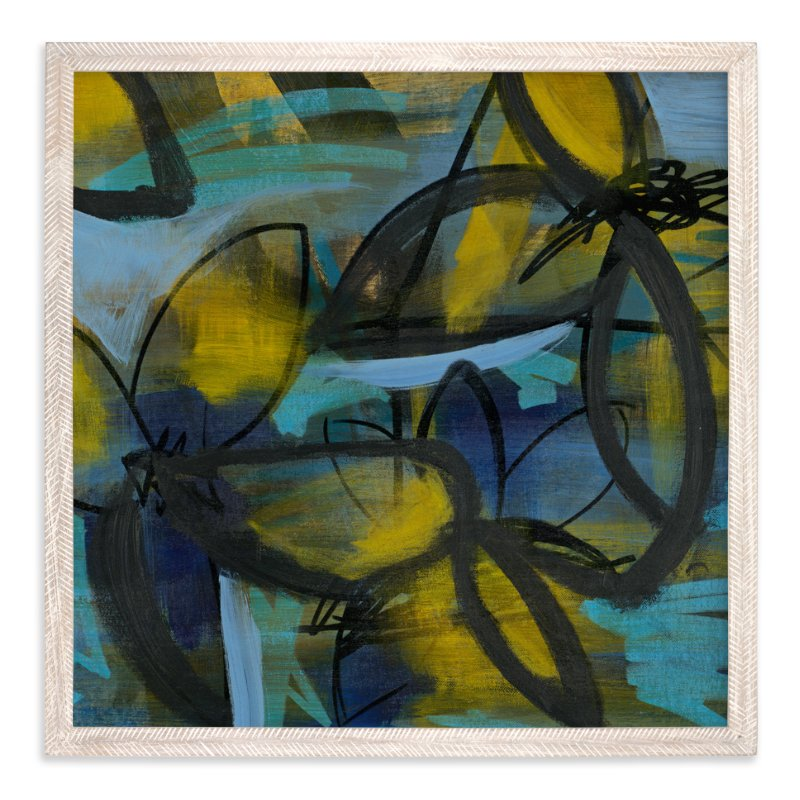 """""""Shining Flower Series 3"""" - Art Print by Angela Simeone in beautiful frame options and a variety of sizes."""