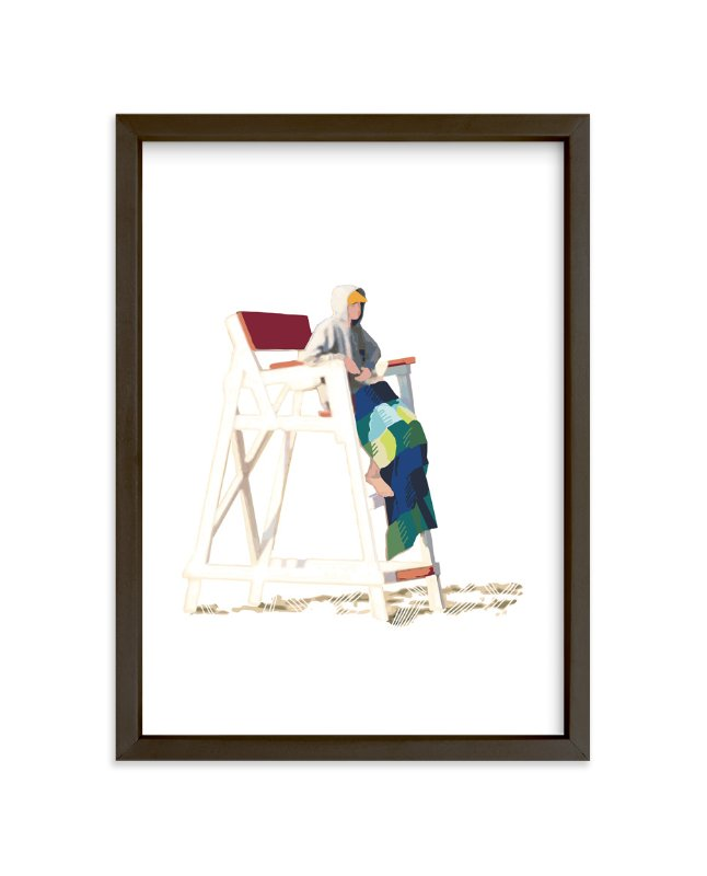 """Beach Watch"" - Art Print by CaroleeXpressions in beautiful frame options and a variety of sizes."