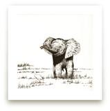 Elephant and bird
